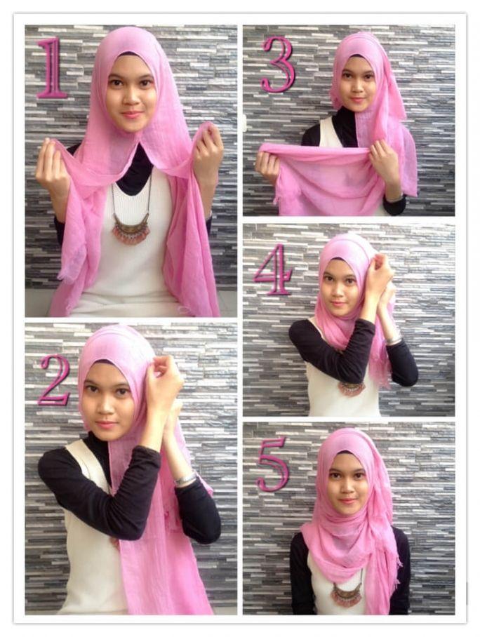 Tutorial Hijab Pashmina Rawis How To Wear Hijab Easy Hijab Style Hijab Style Tutorial