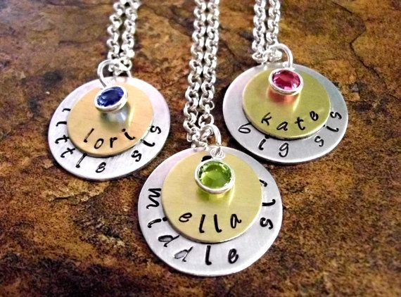 Sister Necklace Sister Jewelry Sisters Necklace by CharmAccents