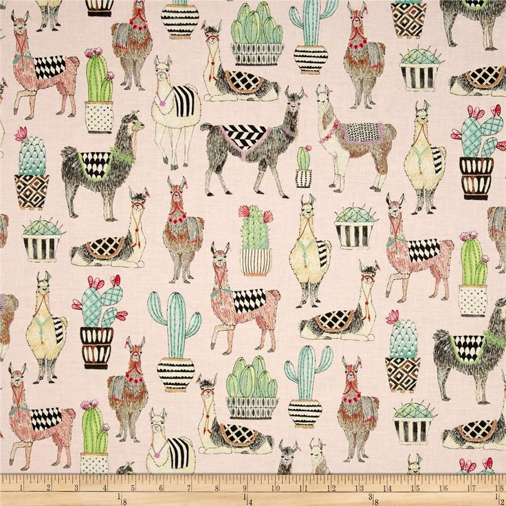 Michael Miller Lovely Llamas Lovely Llamas Pink from @fabricdotcom  From Michael Miller Fabrics, this whimsical collection features llamas, succulents, and bold, modern, geometric, prints. Perfect for quilting, apparel, and home decor accents. Colors include pink, green, tan, brown, black, and white.