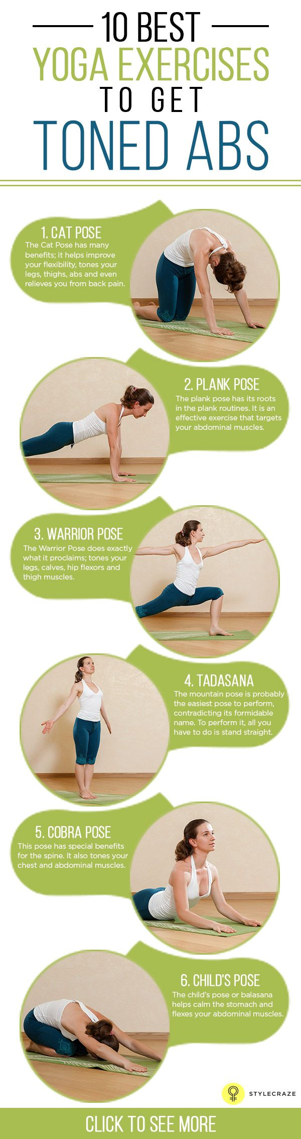 10 Best #Yoga Exercises To Get Toned #Abs