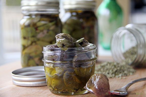 A unique Italian way of preserving olives. Called smashed olives (olive schiacciate.) Calabrese olives recipe from www.anitaliancanadianlife.ca