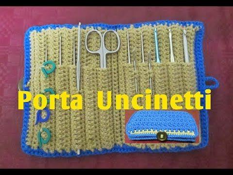 Porta Uncinetti all'Uncinetto Tutorial  #5# - YouTube