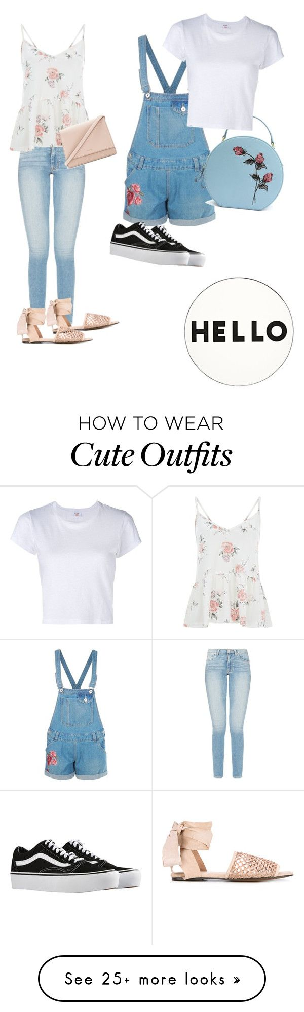 """^-^cute outfits^-^"" by kawaiikitty21 on Polyvore featuring Castañer, Boohoo, RE/DONE, Vans, Kate Spade and Lisa Perry"
