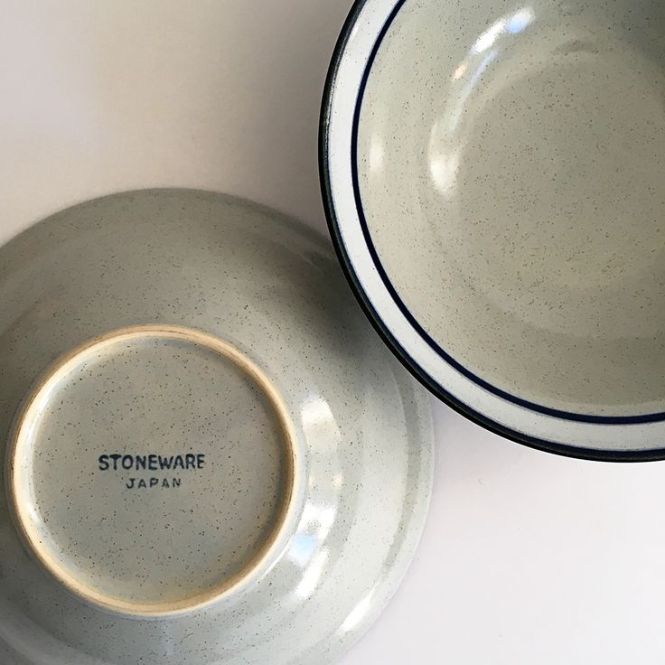 Vintage Cereal & Ice Cream & Soup Bowl • Stoneware Japan • 70's Bowl • Mid Century Modern