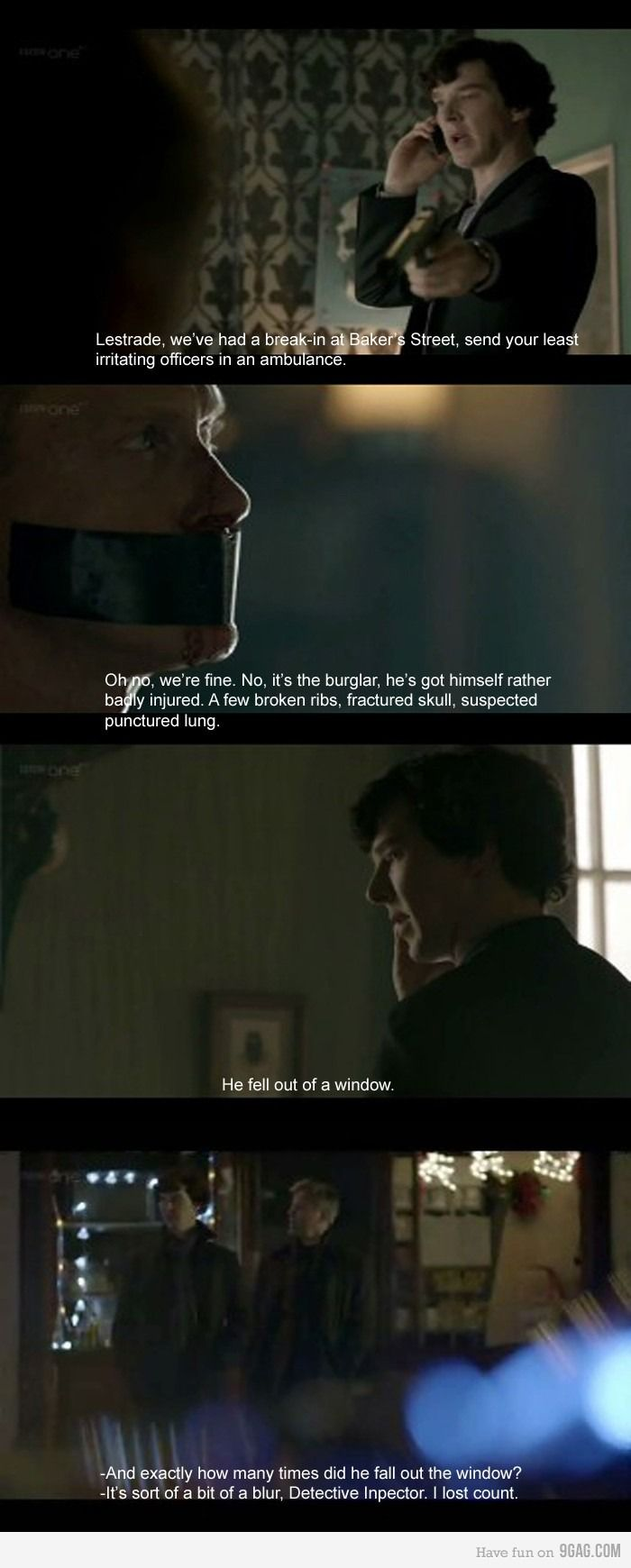 Funny how this whole sequence makes us fans love Sherlock even more. People who aren't a part of our fandom, they think Sherlock has no heart, but he's just very selective about who he loves.