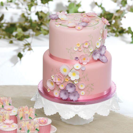 20 best rose quartz wedding cakes images on pinterest cake wedding rose quartz flower wedding cake cupcakes cupcake suppliescake junglespirit Image collections