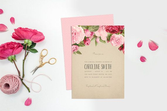 All you need is love! This bespoke printable chalkboard and roses bridal shower invitation is an elegant and refined way to invite guests to your bridal shower. Digitally designed to perfection, it is a lovely sentiment to celebrate your impending nuptials. Customized with your event details and the name of the bride, it is guaranteed to put your guests in the mood for a party! Show guests just how much your bridal shower means to you with this professionally designed bridal shower…