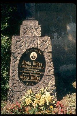 1950 (Year picture was taken) - Leonding, Austria: Adolf Hitler father Alois Hitler's, gravesite.