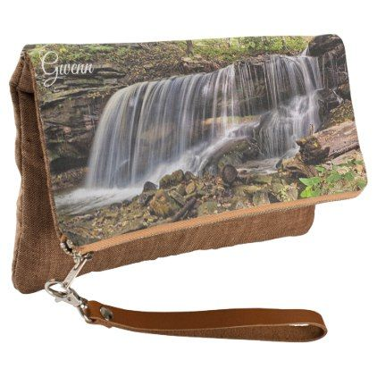 Beautiful Waterfall Photo Custom Clutch - girly gifts girls gift ideas unique special