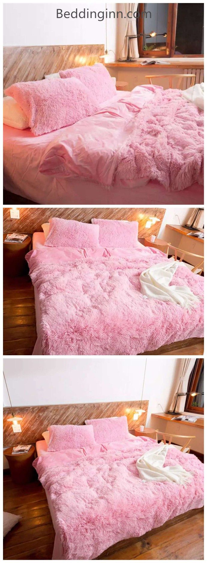 It looks so cute and lovely. So soft and smooth to touch, suitable to people who have sensitive skin or the babies. For its healthy materials and natural fabrics. The pink bedding sets is so bright and beautiful, add more sweetness and joy to your home. Absolutely protect you from any cold in winter and keep you in a good dream.