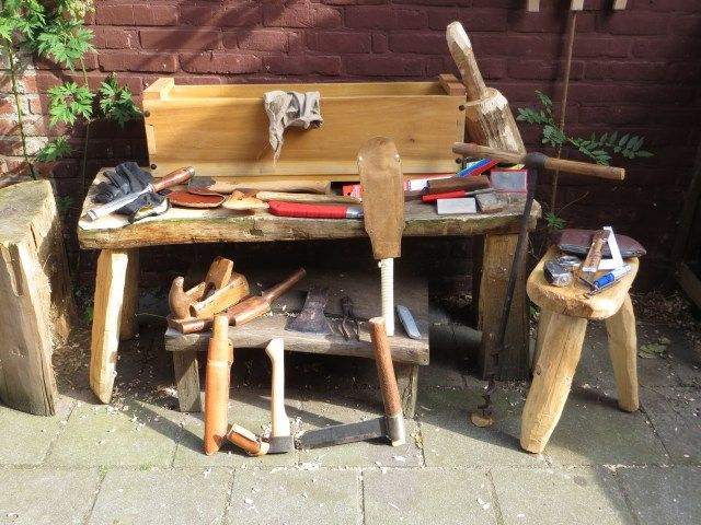 Essential green woodworking tool chest