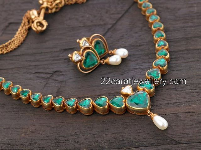 Emeralds Mango Necklace | Jewellery Designs