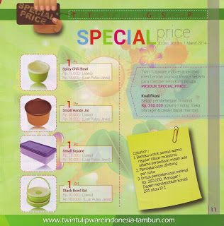 Special Price Twin Tulipware | Januari - Februari 2014