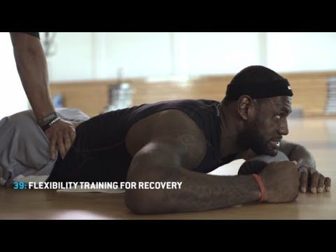 LeBron James funny beatboxing during workout session
