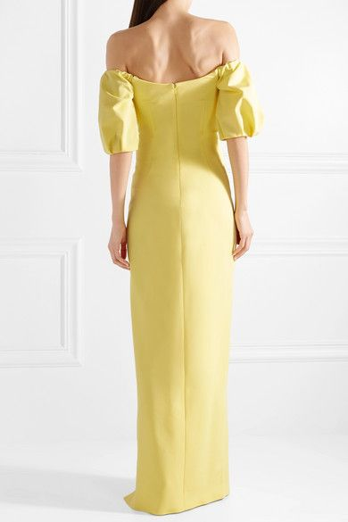 c84c8b6ed44a Cushnie et Ochs - Reina Off-the-shoulder Stretch-crepe Gown - Pastel yellow