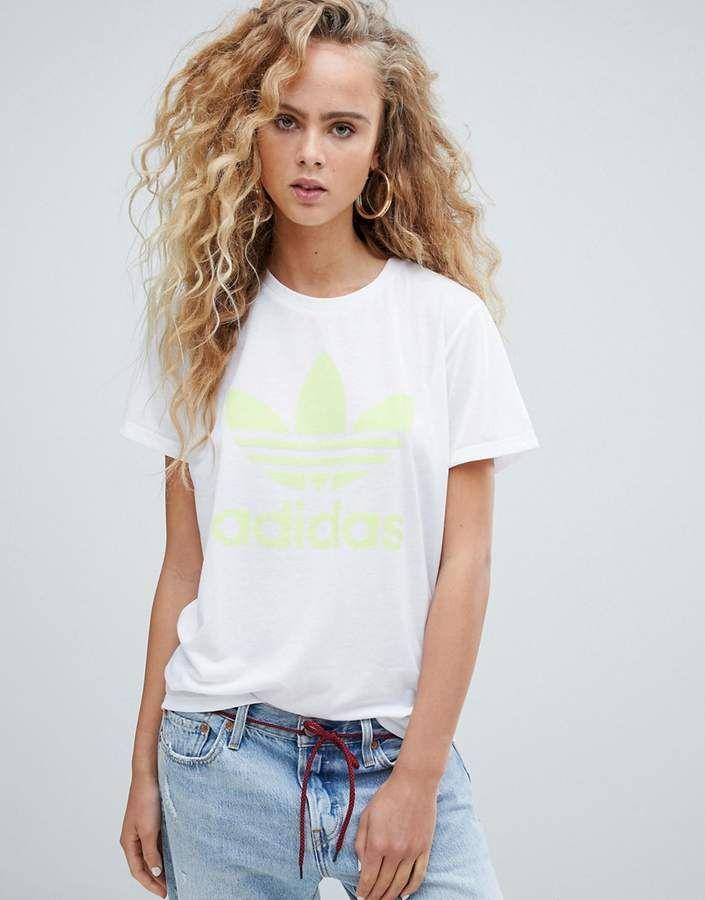 515b2cb9e8b adidas Originals trefoil t-shirt in white $21 | Adidas Originals for ...