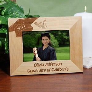 personalized graduation engraved wood frame