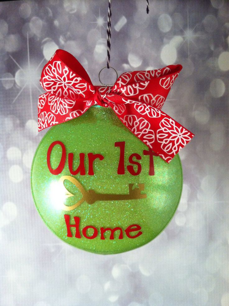 Our First Home Ornament. Key. 1st Home. Gift. Glitter Ornament. Housewarming Gift. Newlywed Gift. Vinyl Ornament. Key with Heart. - pinned by pin4etsy.com