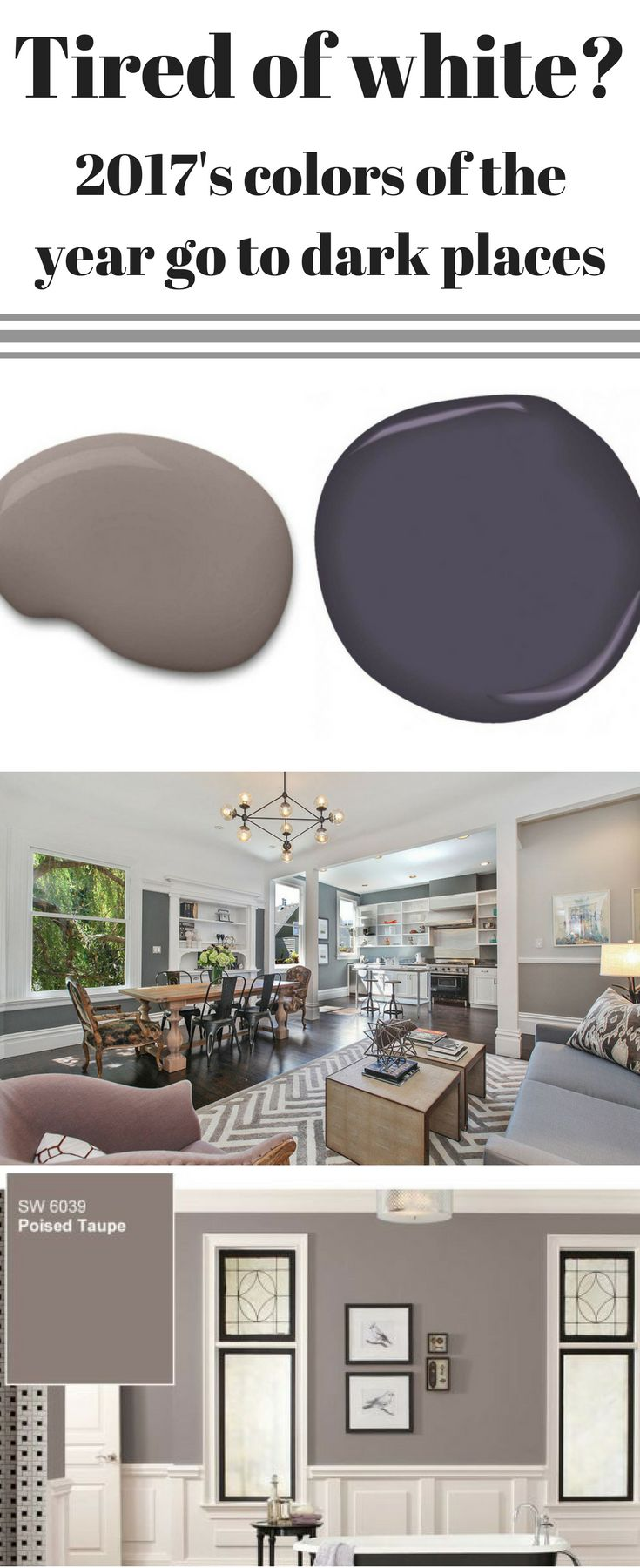 2017 s Colors of the Year Go to a Dark Place  Dining Room Colors2017 Living Best 25 Benjamin moore taupe ideas on Pinterest Taupe paint