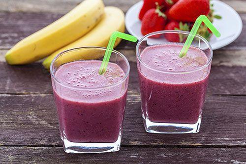 Borůvkový jogurtový koktejl s proteinem