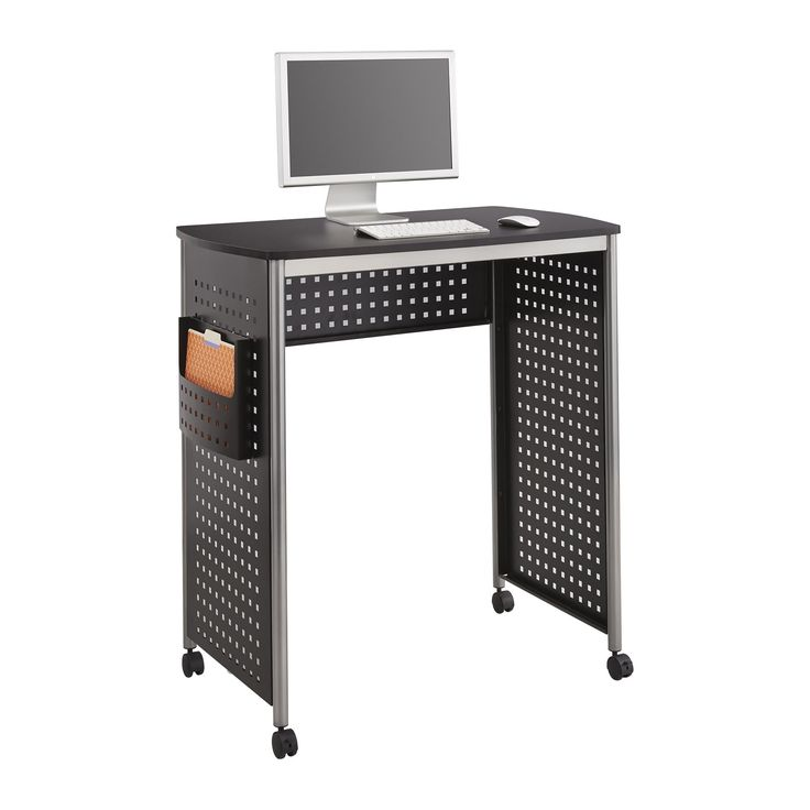 Safco Scoot Stand-up Computer Workstation Desk with File Pocket