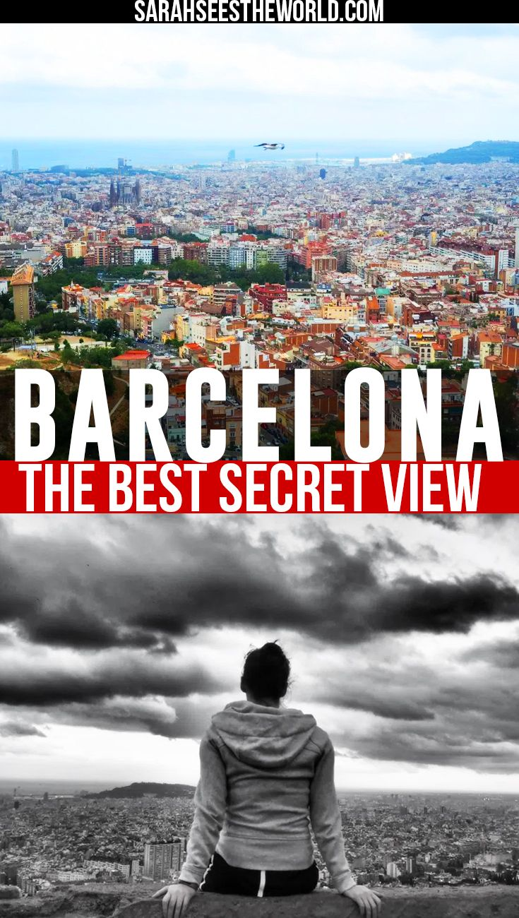 Barcelona is a beautiful city in Spain. Click here to find out where the best secret view of Barcelona is. Don't forget to save this to your travel board!