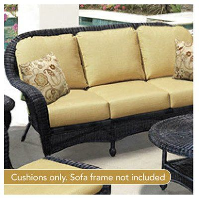 Chicago Wicker U0026 Trading South Shore Collection Haven Textured Deep Seating  Sofa Cushion, Gold
