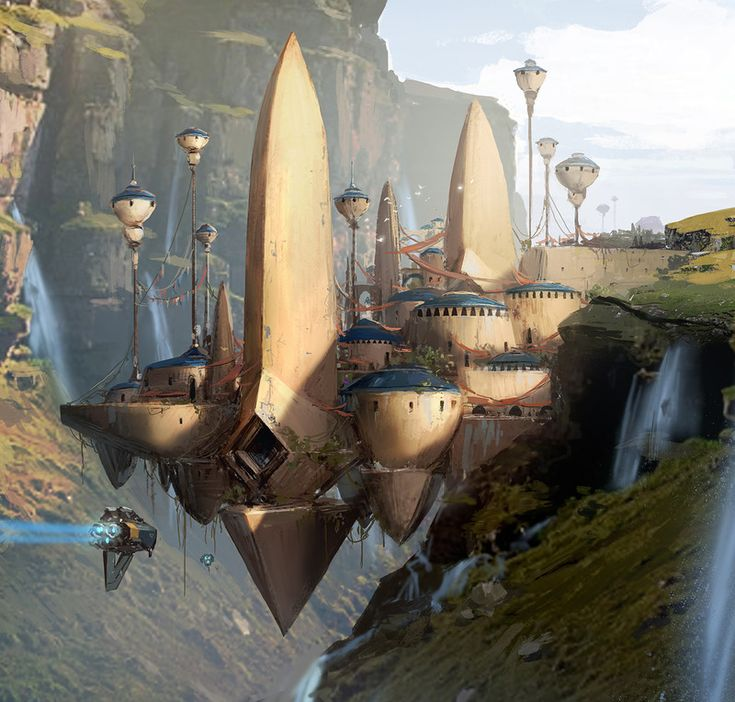 ArtStation - cliff castle, by J.C ParkMore concept art here.