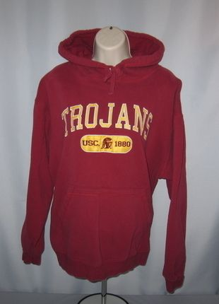 Buy my item on #vinted http://www.vinted.com/womens-clothing/hoodies/19520310-usc-trojans-embroidered-hoodie-usc-colors