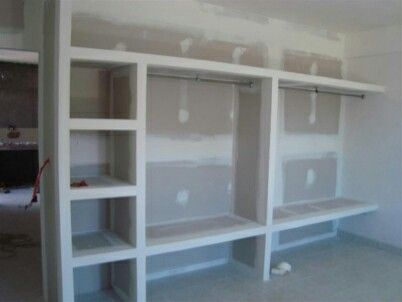 Closet tablaroca decoraci n pinterest closet for Closet de concreto para cuartos