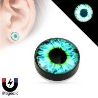 Fake plug piercing glow in the dark oog
