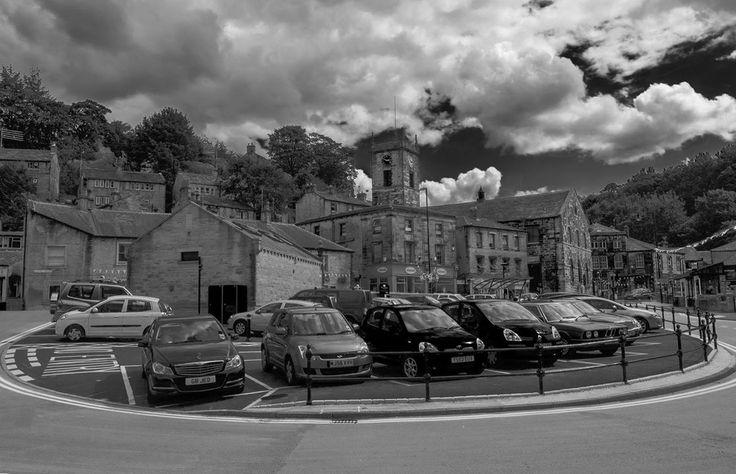 Holmfirth Centre Car Park by Chris Wiper Photography #HolmfirthSelfie