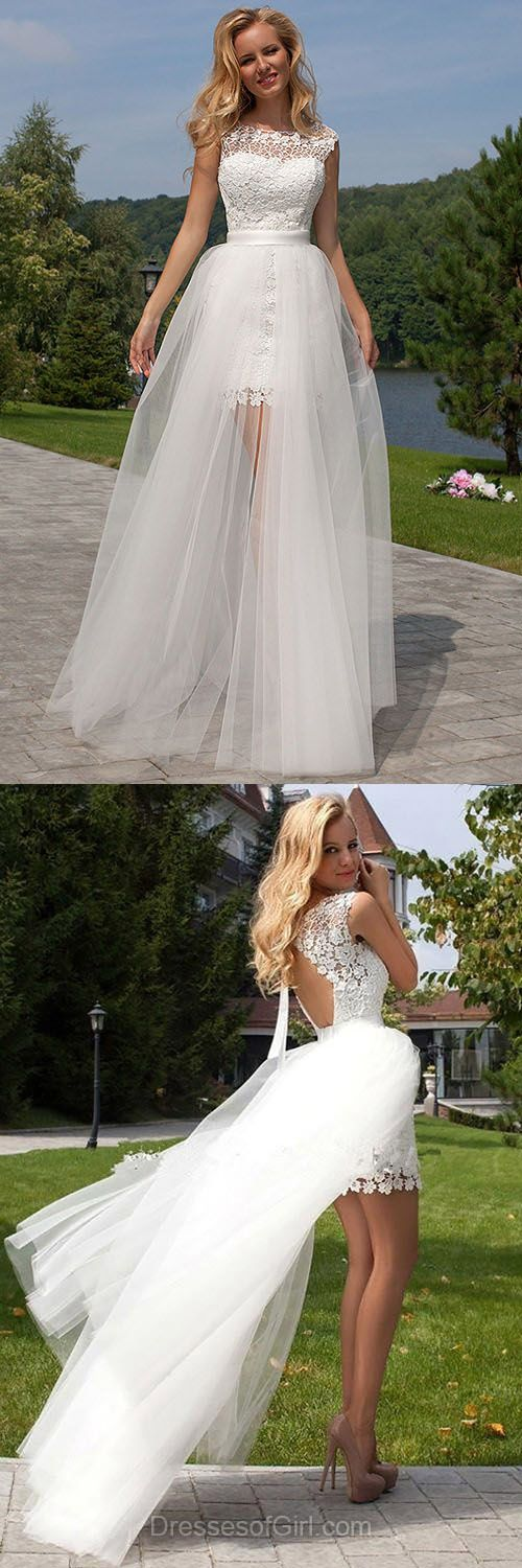 Lace Wedding Dresses, White Bridal Gowns, Elegant Bridal Dress, Open Back Wedding Gowns, Tulle Cheap Bridal Dresses