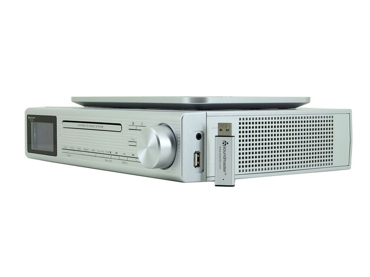 Under Cabinet Bluetooth Player Dab Kitchen Radio Silver Image For Sony Radiocd