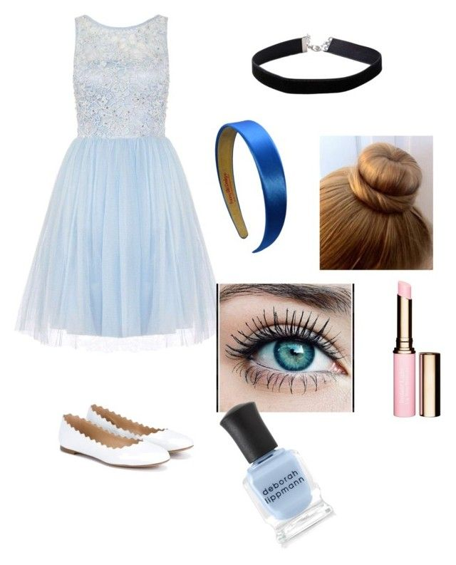 """Be your own Cinderella"" by joanna-banana-forever on Polyvore featuring Dorothy Perkins, Chloé, Miss Selfridge, Clarins and Deborah Lippmann"
