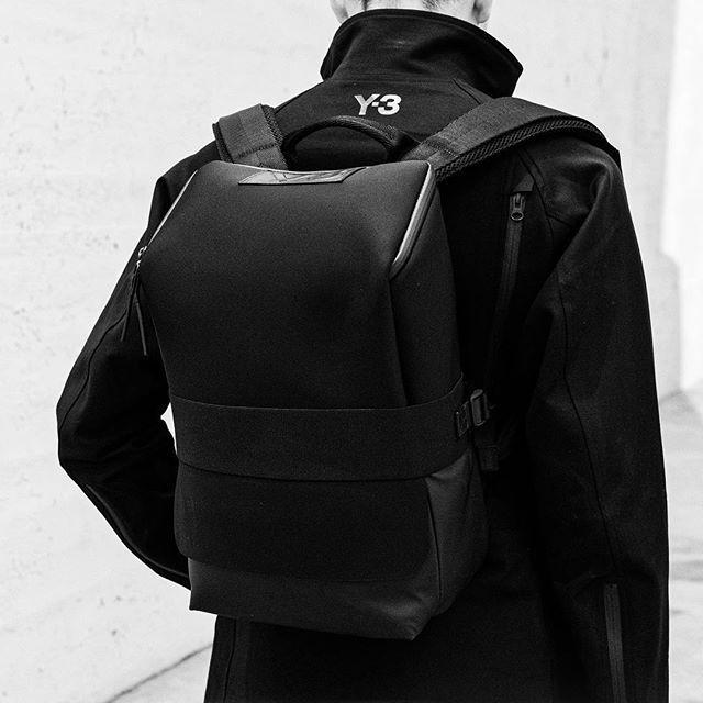 The Y-3 Qasa S is built for maximum efficiency. Shop the look on Y-3.com. #adidas #Y3 #QasaBackpack