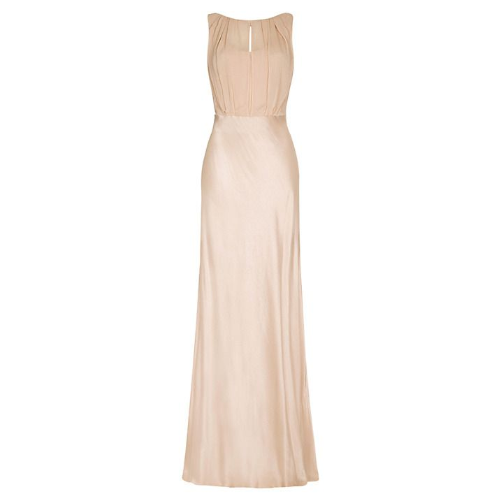 Buy Ghost Hollywood Claudia Dress, Oyster, XS Online at johnlewis.com
