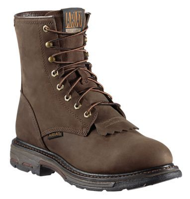 Ariat Workhog H2O Waterproof Work Boots for Men - Oily Distressed Brown - 10.5M