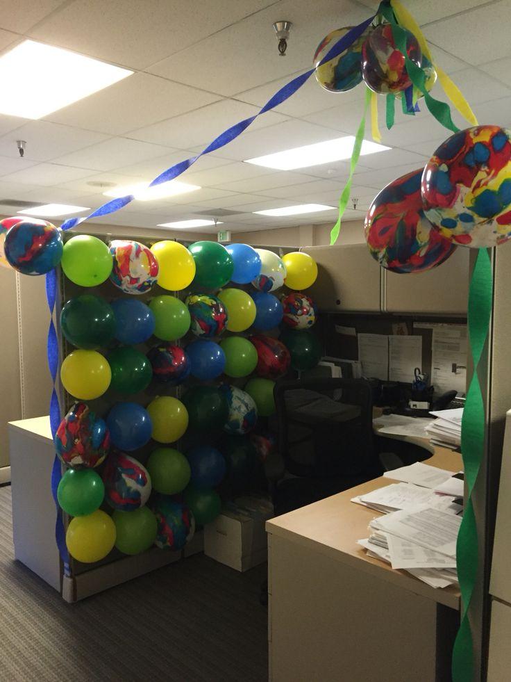 Guys Birthday Cubicle Office Birthday DecorationsBirthday