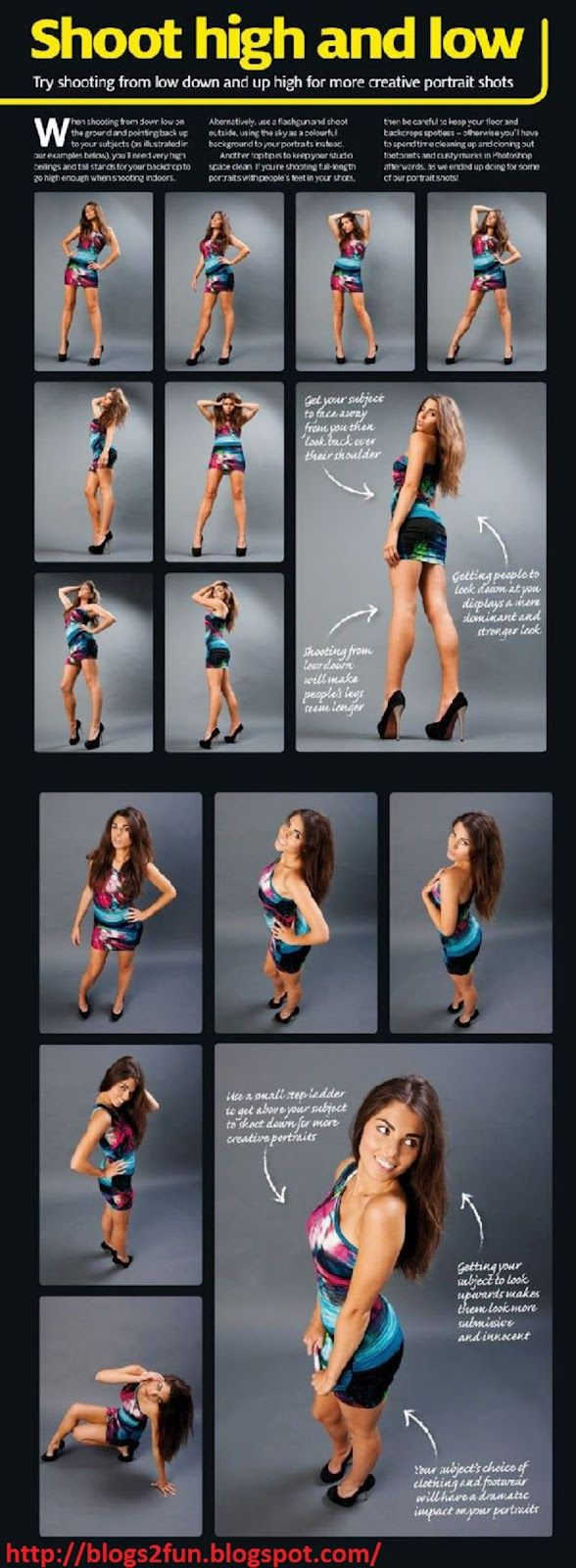 How to pose a Portraits - shoot high and low
