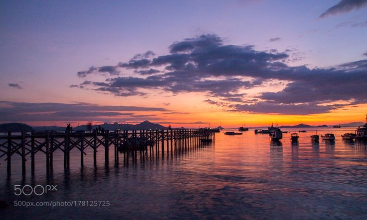 Sunset From Labuan Bajo West Flores Indonesia by LeonardusNyoman