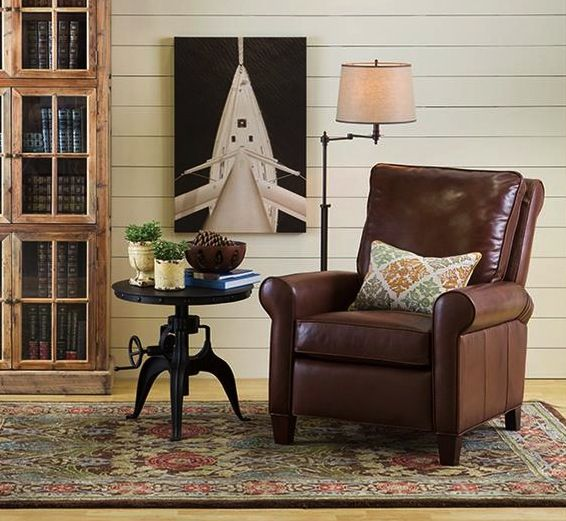 Boston Interiors Blog InteriorsLibrary FurnitureLeather ReclinerLiving Room