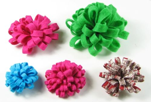 felt and fabric flower tutorial...other great hairbow tutorials as well