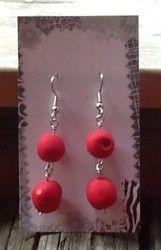 Puolukka korvakorut - Lingonberry earrings