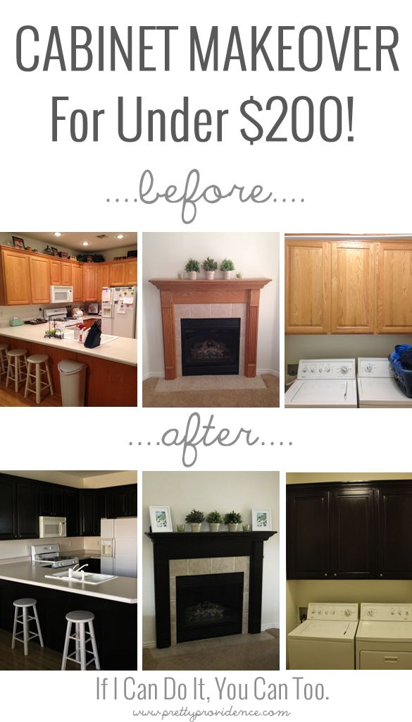 Using java gel stain by General Finishes and Ikea knobs and handles, I gave my entire houses' cabinets a makeover for less than $200! Come see how!