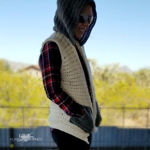 This Hooded Sweater Vest is quite possibly my favorite piece I've ever made! It's been living in my head for a few months and I'm so excited to see it come to fruition. It turned out cute, cozy, comfy… just the perfect winter accessory! This pattern is available as an inexpensive, clearly formatted, PDF instant …