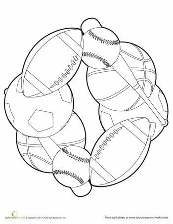 Worksheets: Color a Sports Mandala