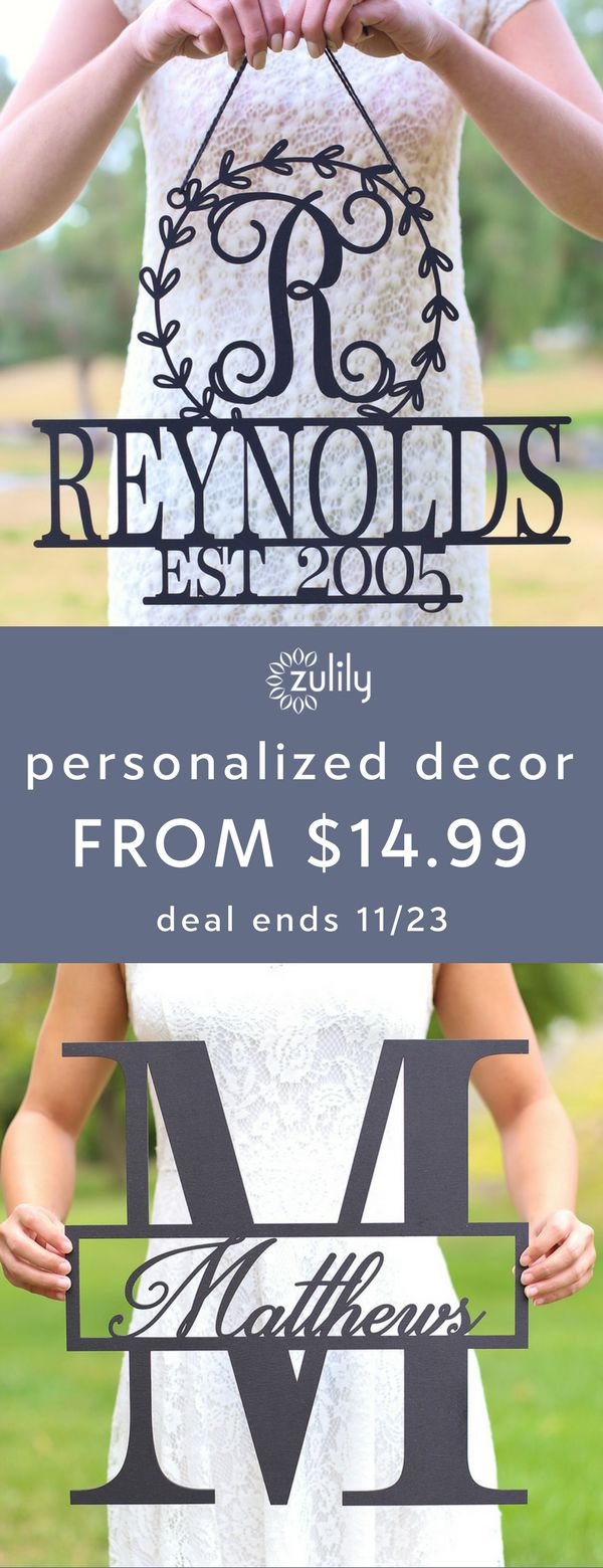 Sign up to shop personalized wedding favors and decor, starting at $14.99. Celebrate the new couple by gifting personalized décor and accessories that commemorate their union. Whether it's something for the wedding day itself or an accent for their happy home, these finds spread the love. Deal ends 11/23.