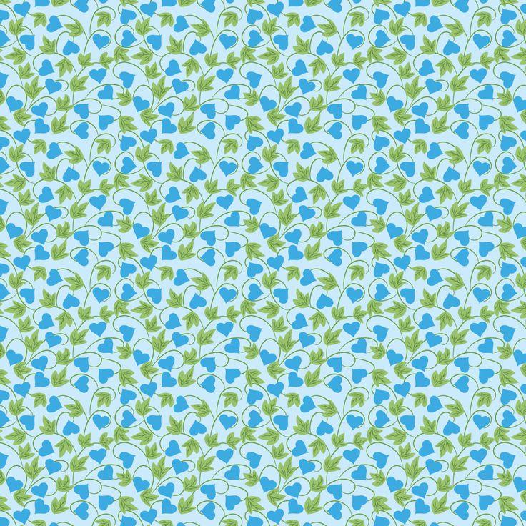 6 Blue Floral Pattern Backgrounds