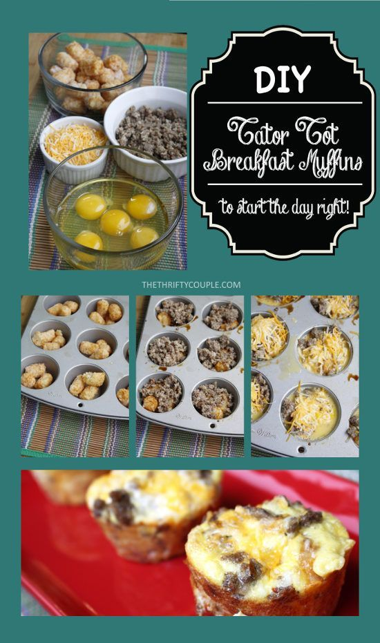 DIY Tater Tots Breakfast Muffins Recipe (All-In-One Hearty Breakfast)